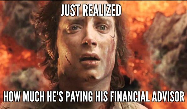 Just Realized How Much He's Paying Frodo Meme