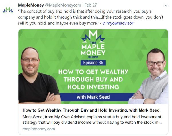 Maple Money and Mark Seed