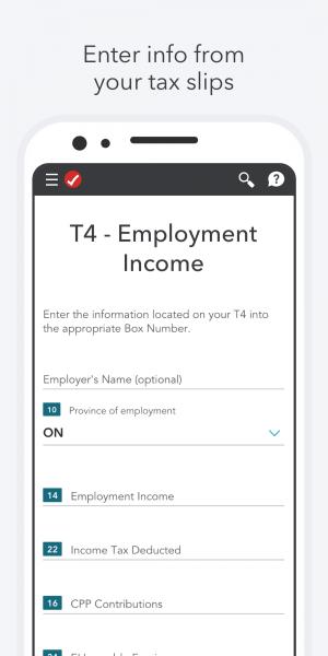 Mobile App - TurboTax Canada