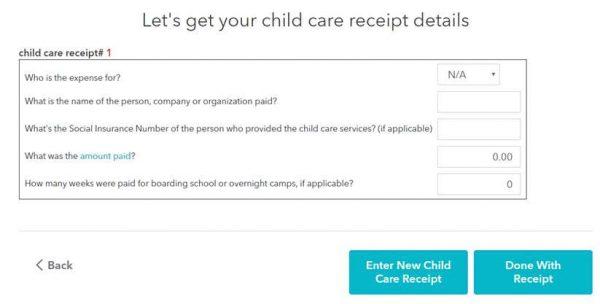 TurboTax - children receipts