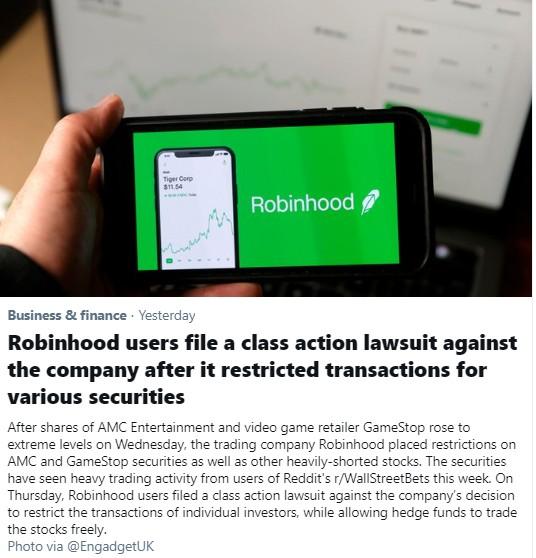 Robinhood January 29, 2021